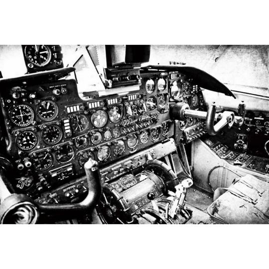 Glass Art - Vintage Cockpit