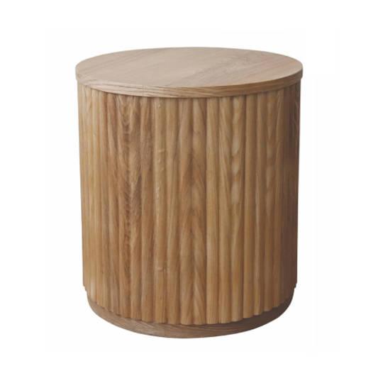 Sanctuary Oak Ribbed Side Table