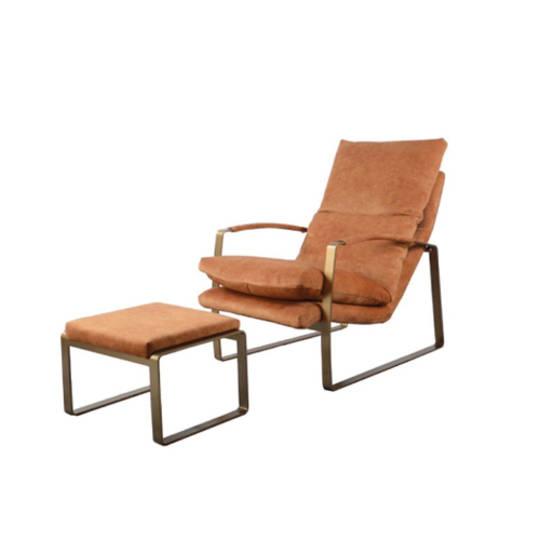 Sienna Chair & Ottoman Fabric Caramel