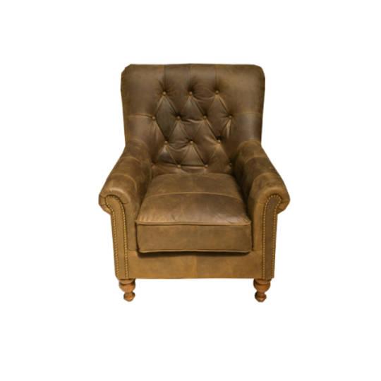 Sofia Leather Chair Jin Black