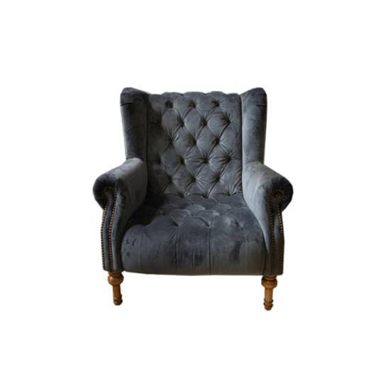 Theo Chair Plush Asphalt Grey