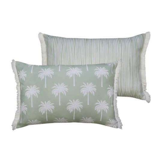 Tropic Reversible Lumbar Light Green Cushion