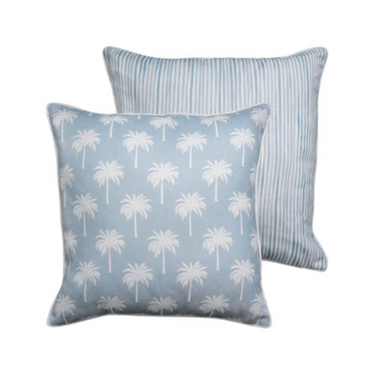 Tropic Light Blue Reversible Cushion