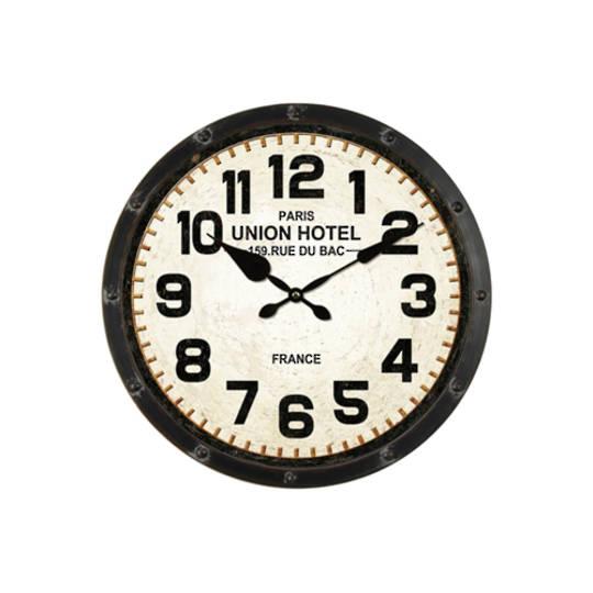 Union Hotel Iron Wall Clock