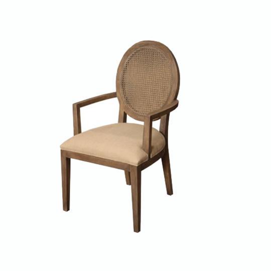 Valdez Rattan Back Carver Chair With American Oak
