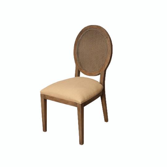 Valdez Rattan Back Dining Chair