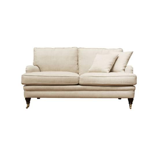 Victoria 2 Seater Sofa Belgium Linen - Colour Cream
