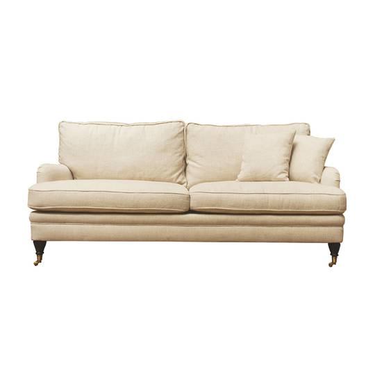 Victoria 3 Seater Sofa Belgium Linen Cream