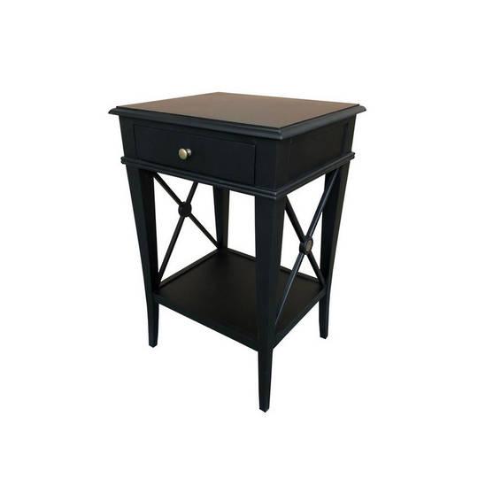 Villa Bedside Table - Black Poplar