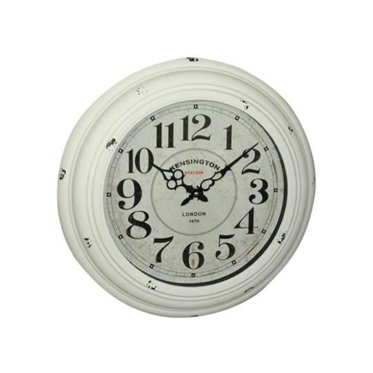 White Kensington Antique Clock