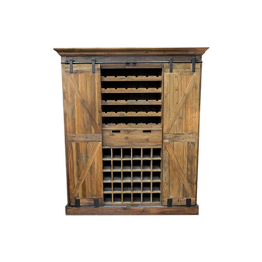 Industrial Bar & Wine Unit With Sliding Doors