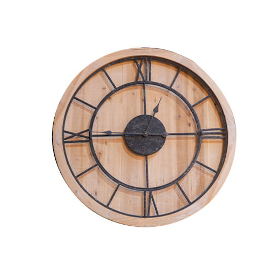 Wood and Iron Wall Clock