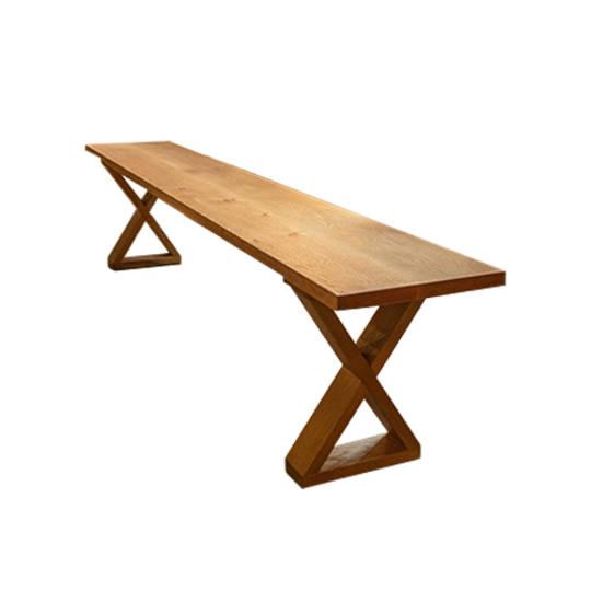 American Oak X-Leg Bench Seat NZ Made