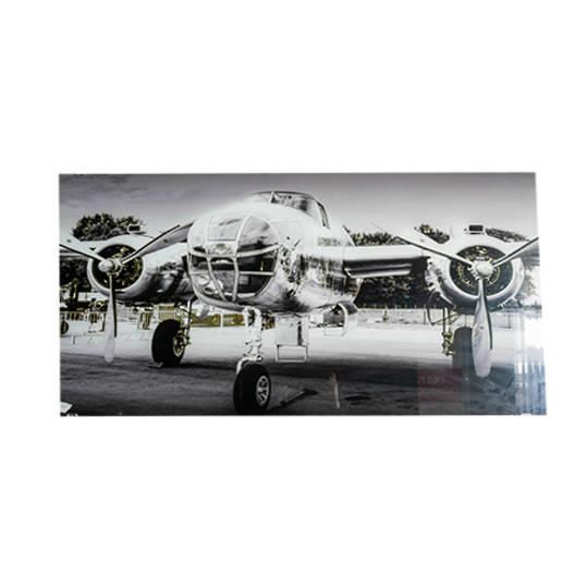Glass Art - B25 Bomber