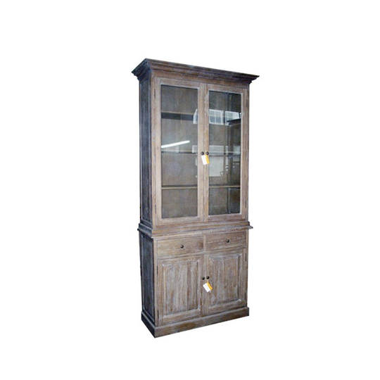 Antique Washed Oak Cabinet
