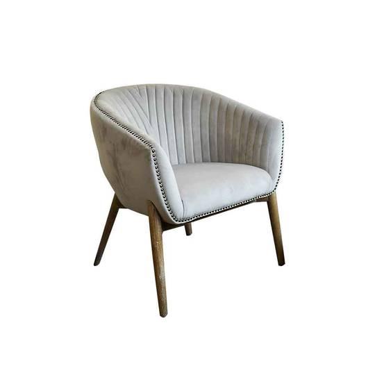 Cairo Velvet Carver Chair - Grey