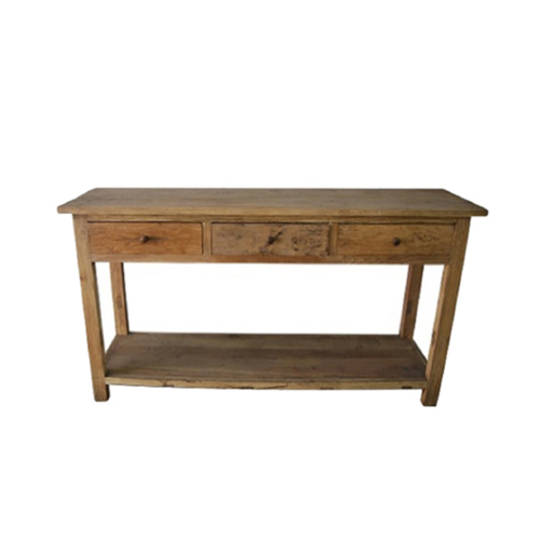 Console Table Recycled Elm 3 Drawer