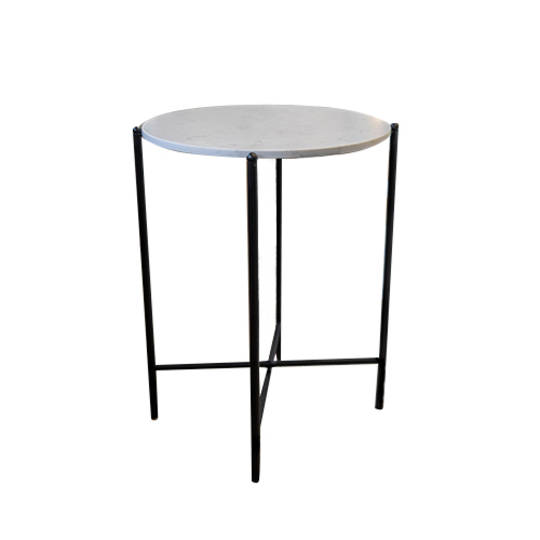 Crete Side Table White Marble