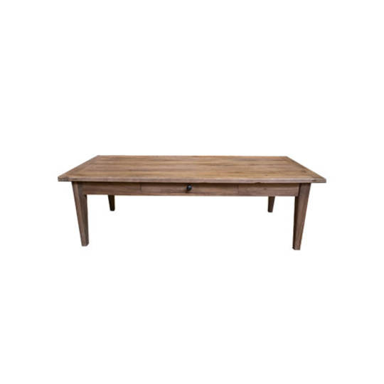 Recycled Elm French 1 Drawer Coffee Table