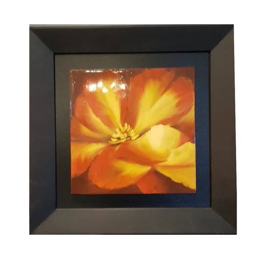 Flower Wall Art Piece Square