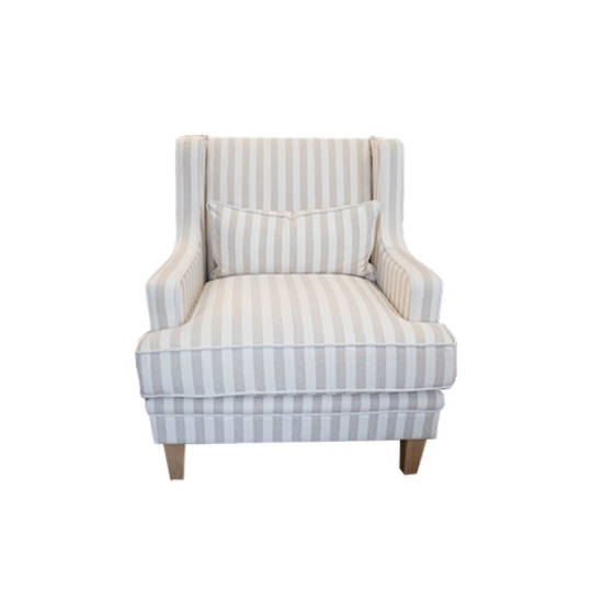 Georgia Arm chair Natural Stripe