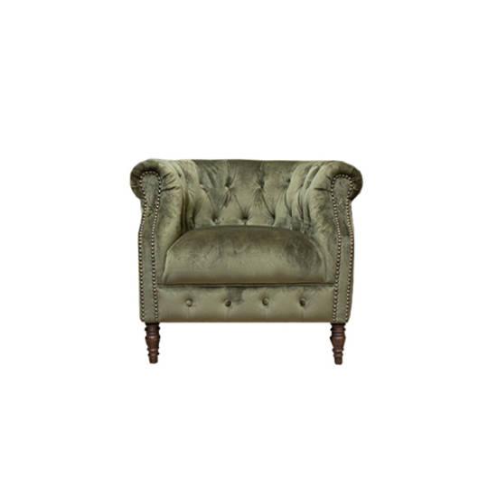 Jude Chair Plush Velvet Green