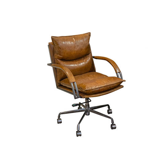 Hereford Vintage Leather Office Chair Height Adjustable