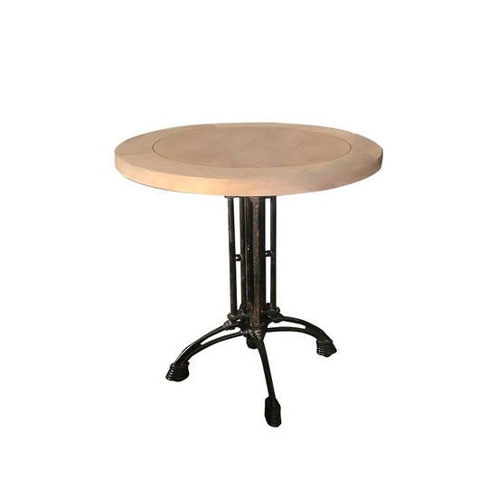 Industrial Cafe Round Table Old Pine