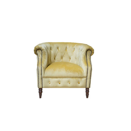 Jude Chair Plush Velvet Yellow