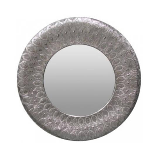 Panama Round Mirror Silver