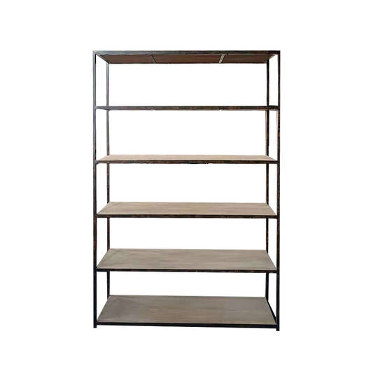Industrial Shelving Unit Old Pine