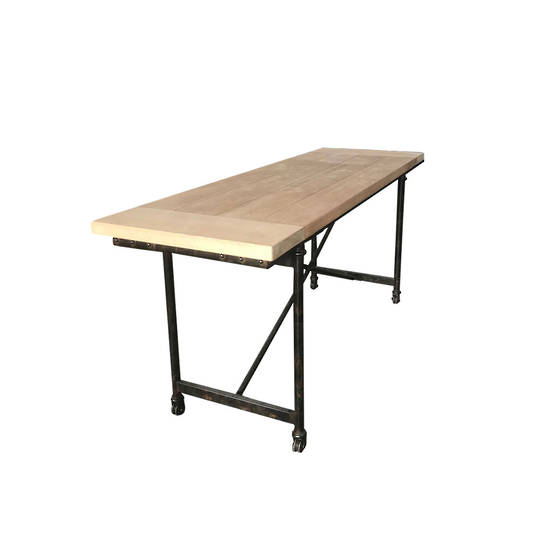 Industrial Dining Table Old Pine - 1.8m