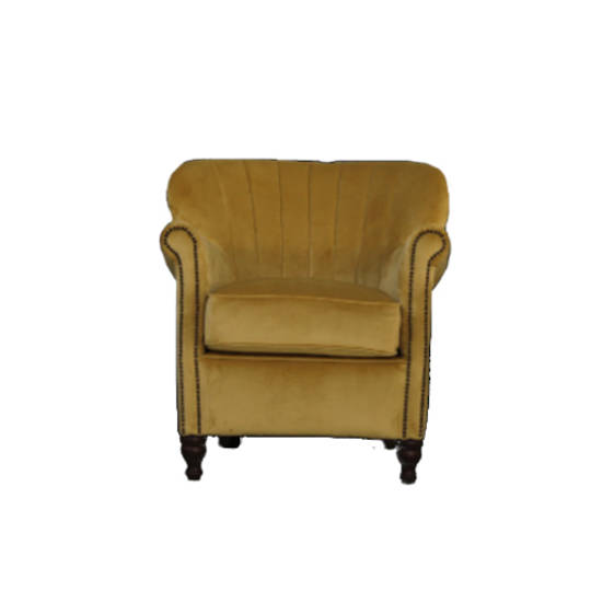 Percy Chair Plush Velvet Yellow