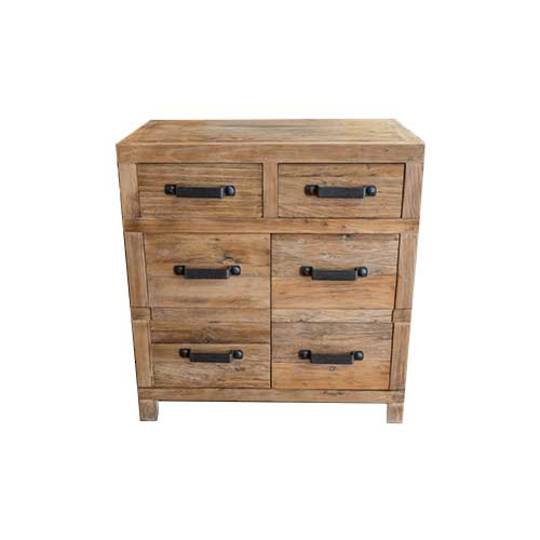 Recycled Elm 2 Drawer 2 Small Cabinet