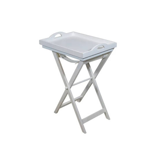 White Wooden Tray Table