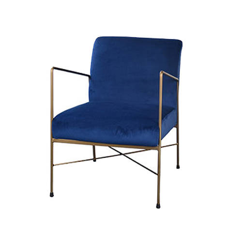 Geneva Velvet Chair Navy