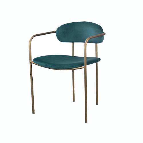 Granada Dining Chair Emerald Velvet