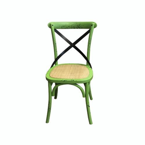 Mantis Antique Green Cross Chair