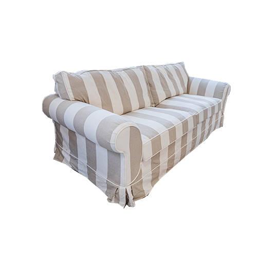 Delray 3 Seater Sofa Striped Natural