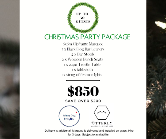Marquee Christmas Party Package
