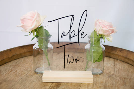 Acrylic Tables Number