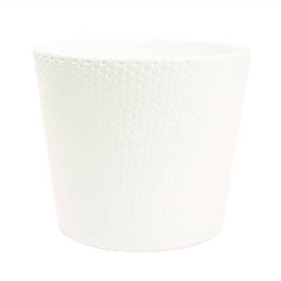 Lina 15cm White Gloss Ceramic Pot