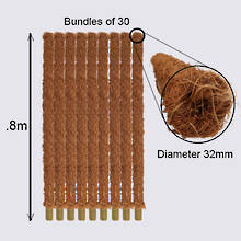 Coir Pole Bundle - .8m length