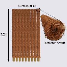 Coir Pole Bundle 1.2m length