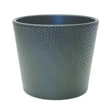 Lina 15cm Black Matte Ceramic Pot