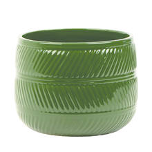 Eva 15cm Forest Green Gloss Ceramic Pot