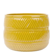 Eva 15cm Ochre Gloss Ceramic Pot