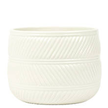 Eva 15cm White Gloss Ceramic Pot