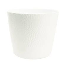 Jane 15cm White Gloss Ceramic Pot