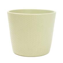 Lina 15cm Light Khaki Matte Ceramic Pot